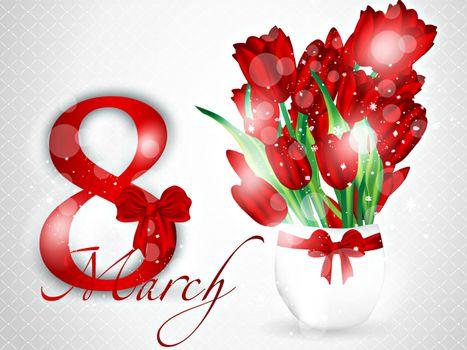 Фото бесплатно Поздравляем наших девушек, Международный женский день, цветы