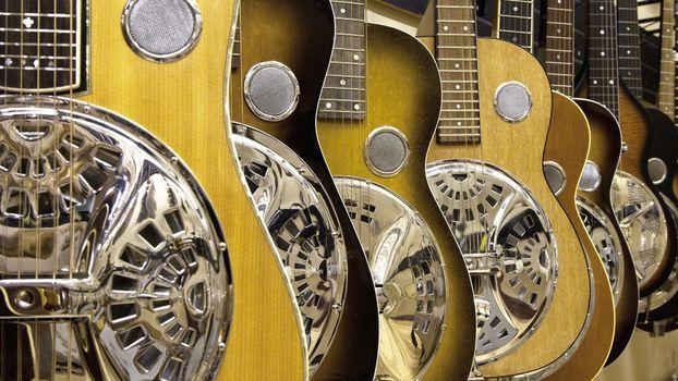 Фото бесплатно гитары, магазин, ряд
