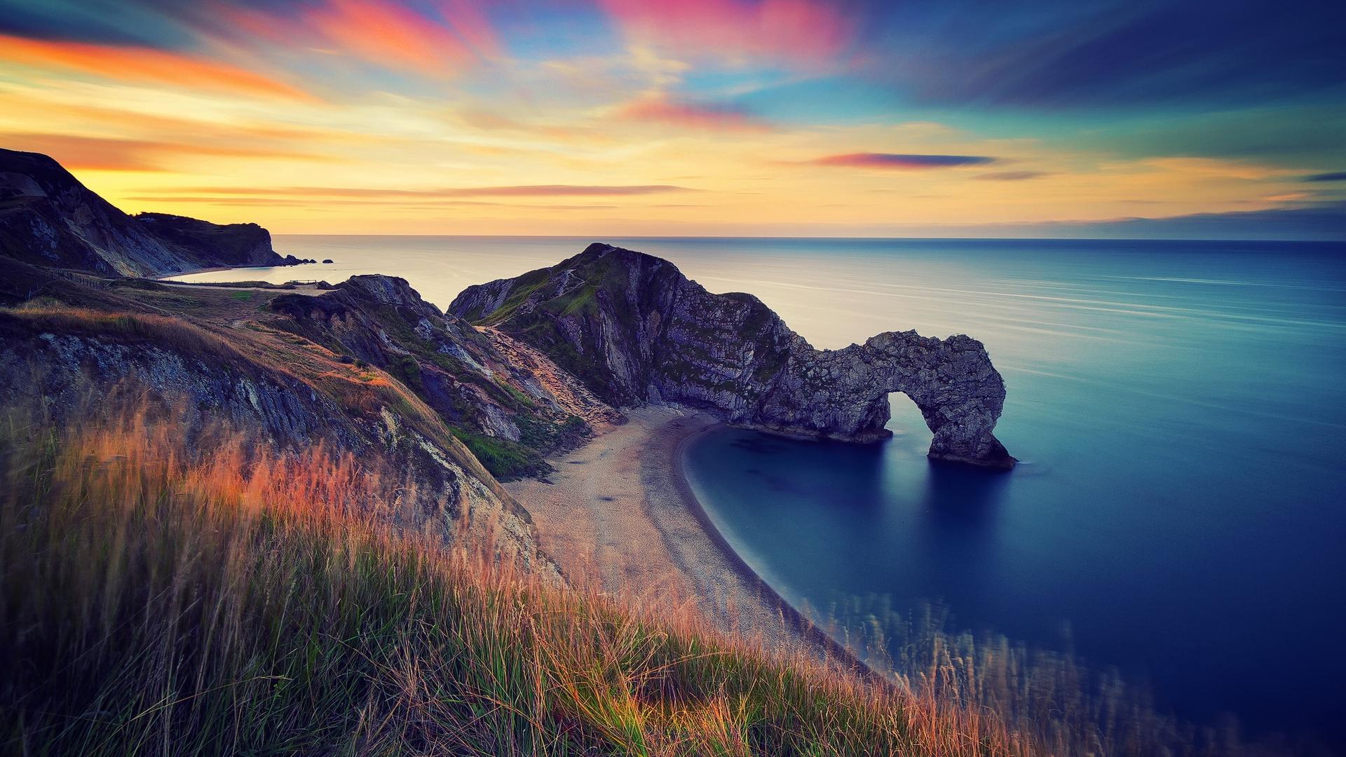 берег, скалы, арка