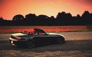 Бесплатные фото хонда,с2000,родстер,диски,занижение,дорога,спорткар