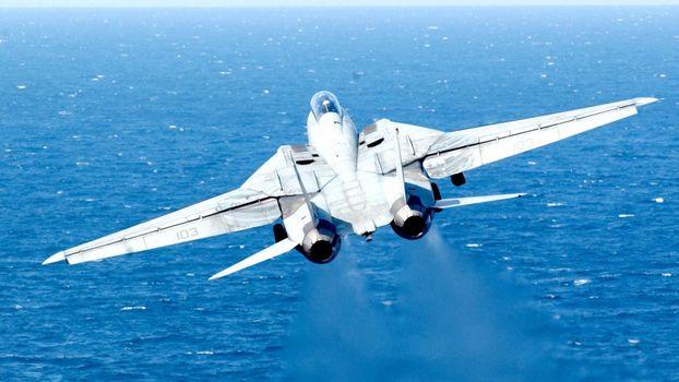 Бесплатные фото истребитель,турбины,полет,океан