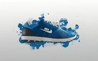 Бесплатные фото кроссовок,nike,форма,логотип,подошва,синий,цвет
