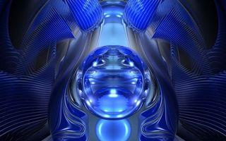 Бесплатные фото круг,линии,заставка,обои,цвет,синий,свет