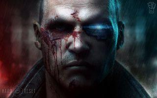 Фото бесплатно лицо, глаза, нос, рот, губы, кровь, робот, усы, куртка, свет, мужчины, фильмы