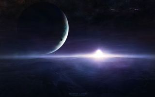 Бесплатные фото планета,поверхность,спутник,звезды,галактики,туманность,газы