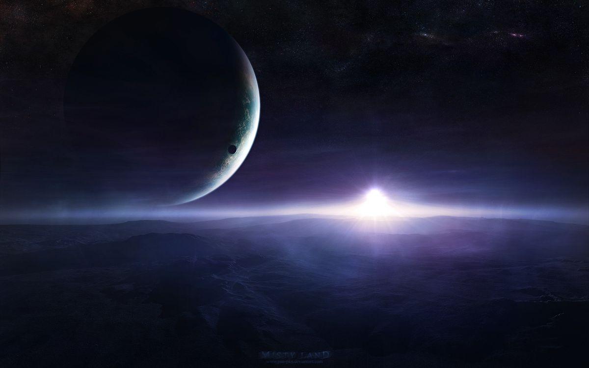 Фото бесплатно планета, поверхность, спутник - на рабочий стол