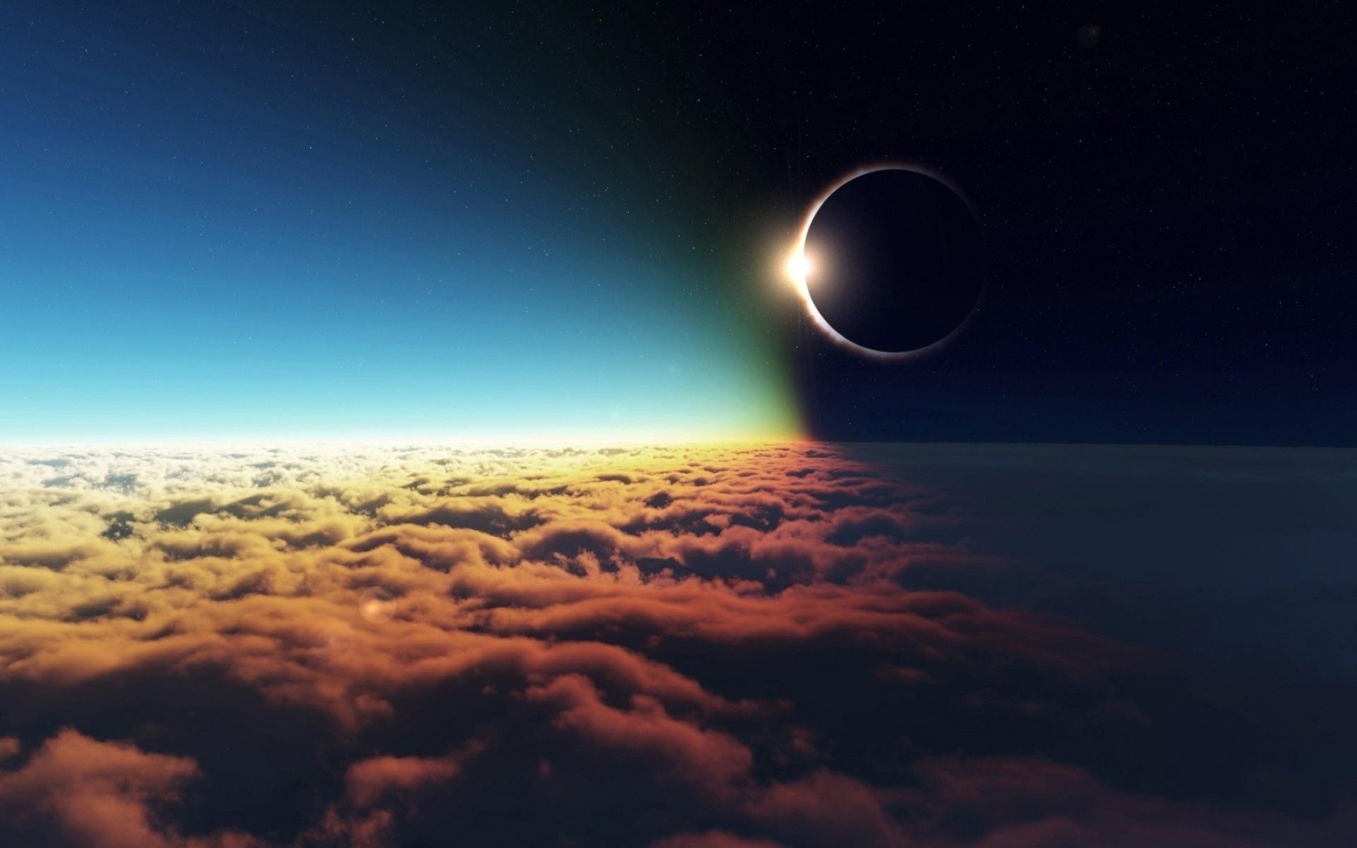 планеты, солнце, затмение