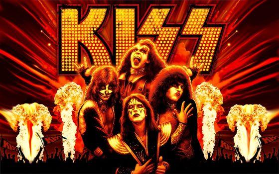 Photo free rock band, kiss, make-up