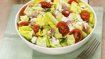 Photo free salad, greens, tomatoes