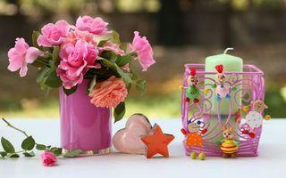 Бесплатные фото свечка,стол,забор,цветы,игрушки,разное