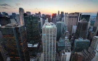 Фото бесплатно нью-йорк, небоскребы, дома