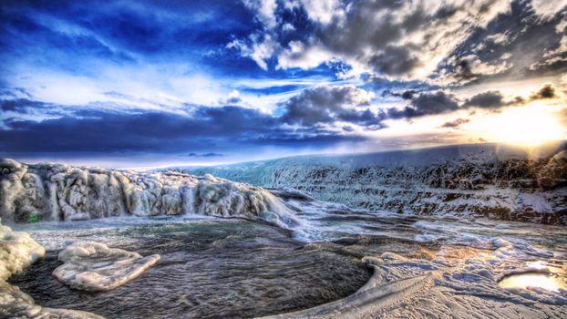 Бесплатные фото северный полюс,лед,снег,ручей,вода,небо,облака,солнце,природа