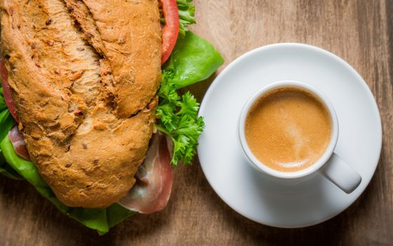 Photo free Cup, coffee, bread