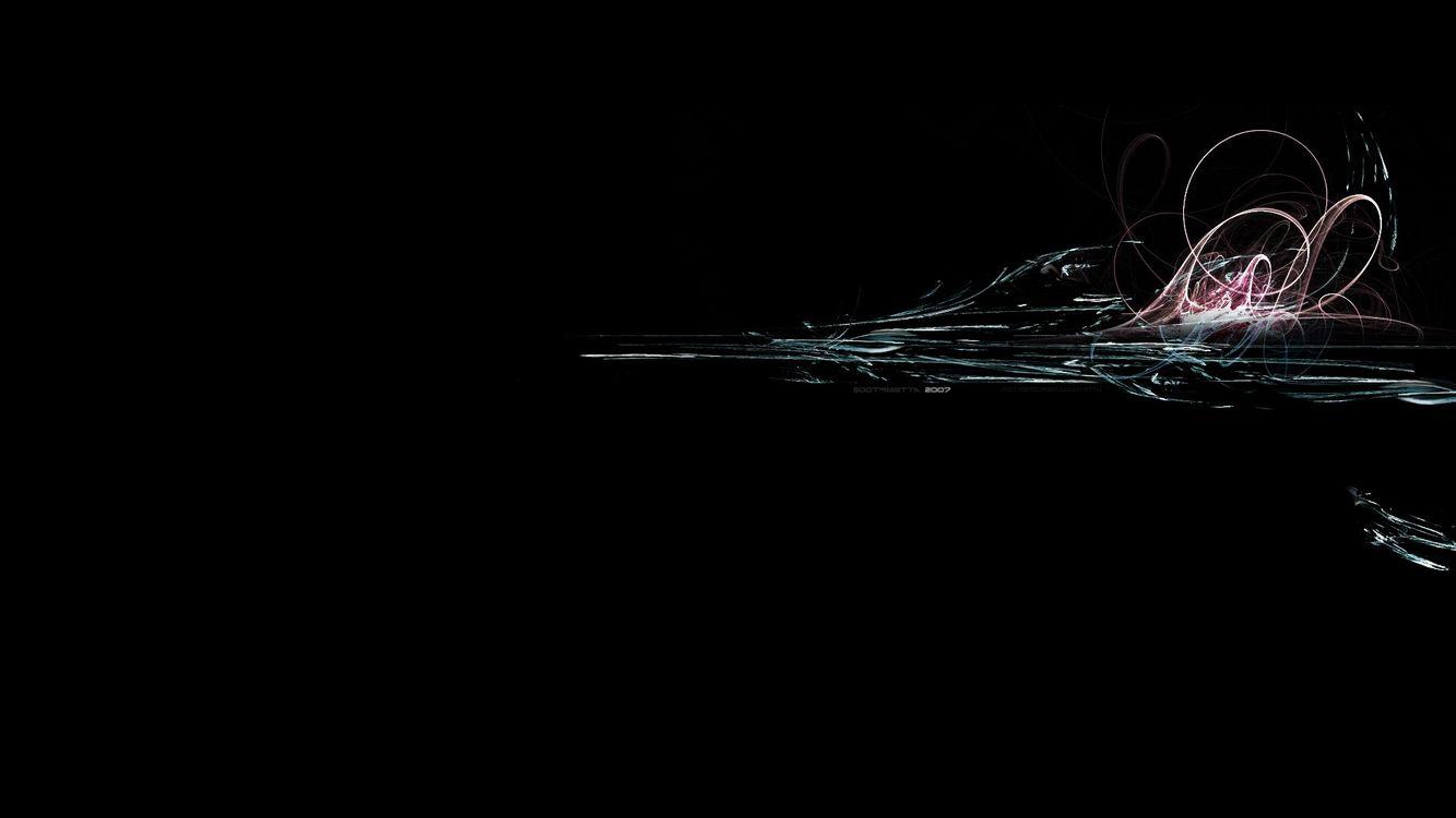 Картинка черный, необычно, быстро, линии, мягкие, цветые, абстракции на рабочий стол. Скачать фото обои абстракции