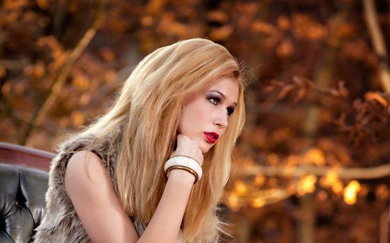 Фото бесплатно девушка, блондинка, волосы