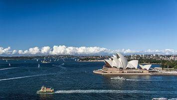 Бесплатные фото дома, море, корабли, небо, облака, деревья, город