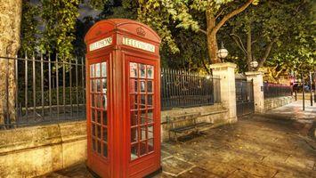 Бесплатные фото телефон, будка, красная, город, забор, разное