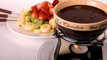 Бесплатные фото горячий, шоколад, растопленный, сосуд, миска, тарелка, фрукты