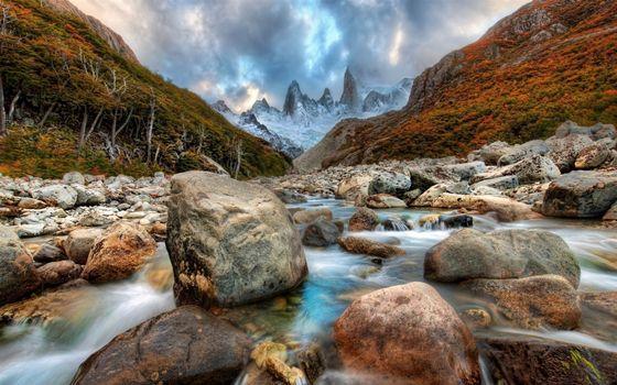 Фото бесплатно горы, камни, вода