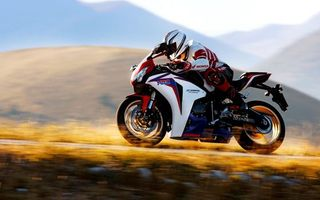 Фото бесплатно honda, мотоцикл, мотоциклист