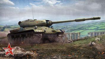 Бесплатные фото ис-4,советский,тяжелый,танк,поле,сражения,world of tanks