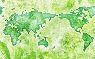 Photo free map, green, world