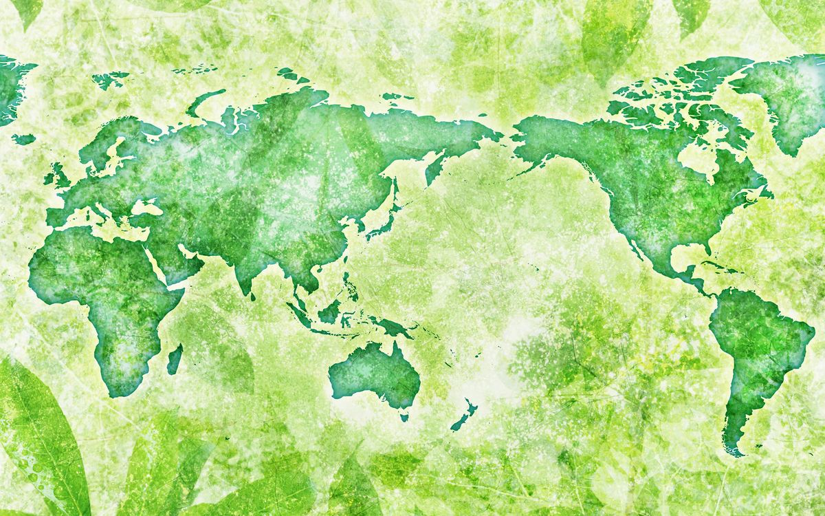 Free photo map, green, world - to desktop