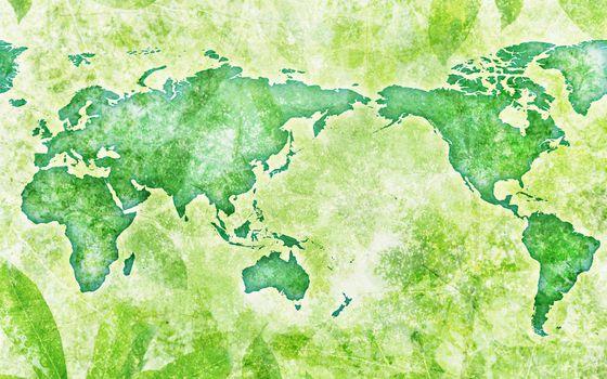 Фото бесплатно карта, зеленая, мир