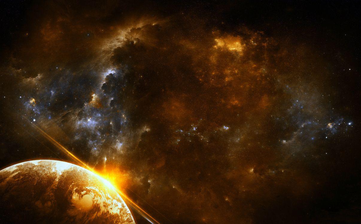 Фото бесплатно космос, планета, звёзды, космос - скачать на рабочий стол