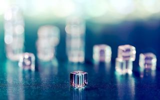 Бесплатные фото кубик,лед,холод,мороз,грани,фон,синий
