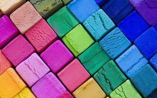 Фото бесплатно квадраты, разноцветные, синий