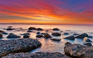 Бесплатные фото море, берег, камни, горизонт, небо, облака, пейзажи