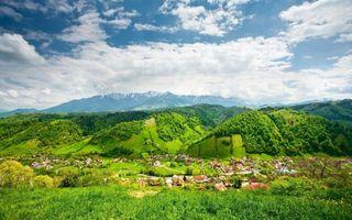 Photo free village, sky, clouds