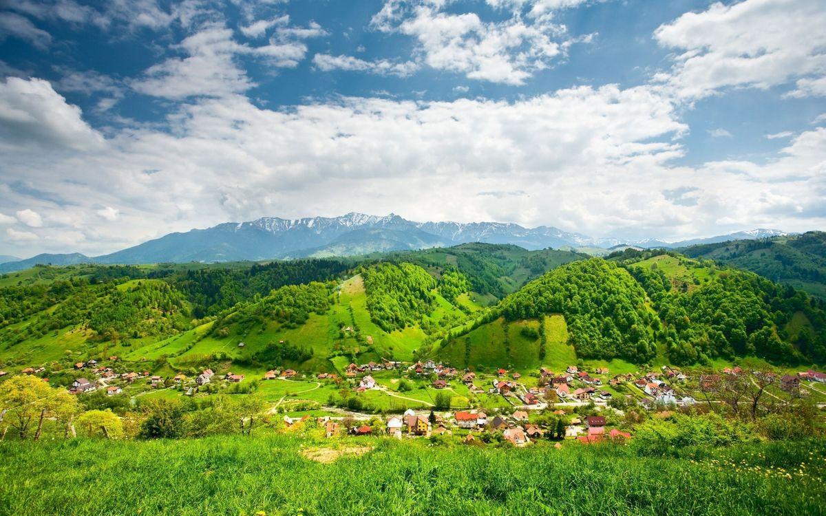 Фото бесплатно деревня, небо, облака - на рабочий стол