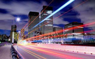 Бесплатные фото огни,свет,фото,выдержка,дорога,фонарь,асфальт