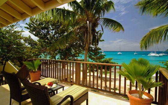 Фото бесплатно остров, вода, волна