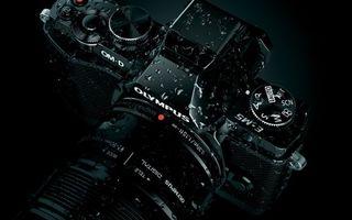 Фото бесплатно olympus, фотоаппарат, черный