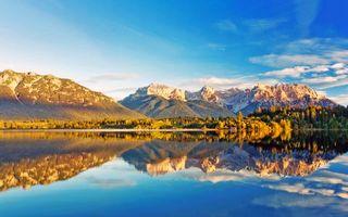 Фото бесплатно озеро, пейзаж, пейзажи