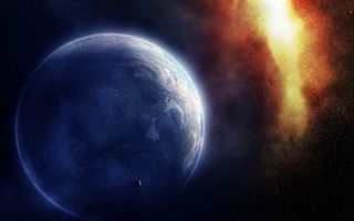 Фото бесплатно планета, небо, черное