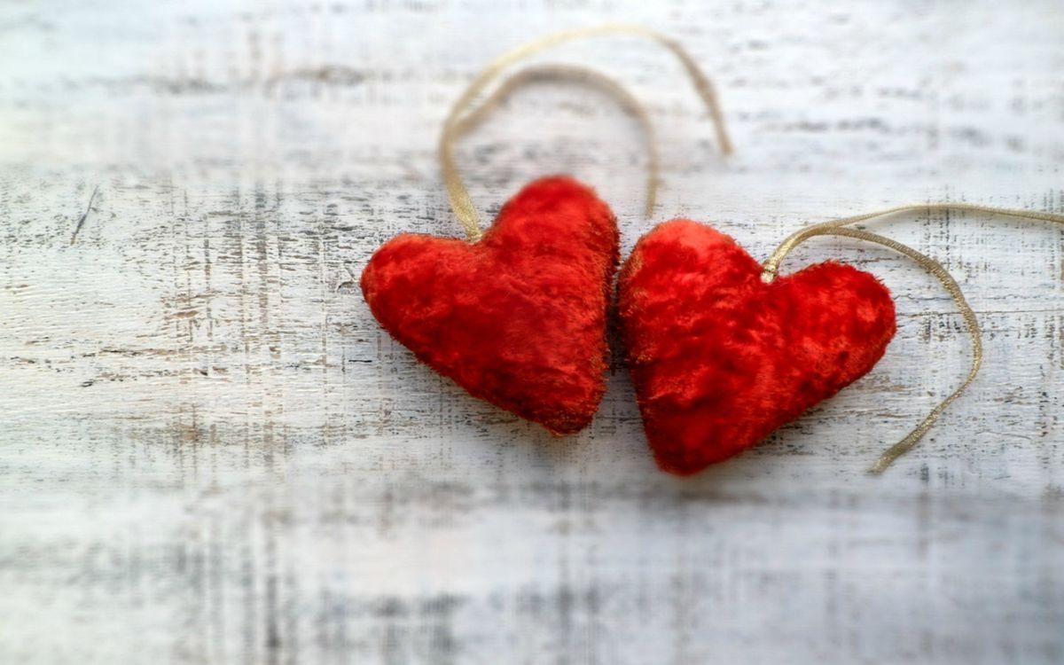 Фото бесплатно сердечки, красные, пара - на рабочий стол
