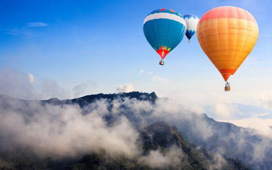 Photo free balloons, air, sky