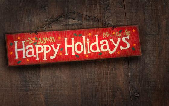 Бесплатные фото табличка,надпись,пожелание,дерево,доска,звездочка,узор,листики,новый год,настроения,праздники