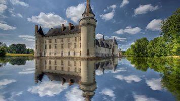 Бесплатные фото вода,озеро,замок,старинный,деревья,зеленые,город