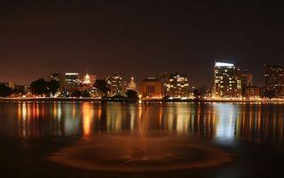 Бесплатные фото вода,дома,здания,вечер,огни,фонари,разное
