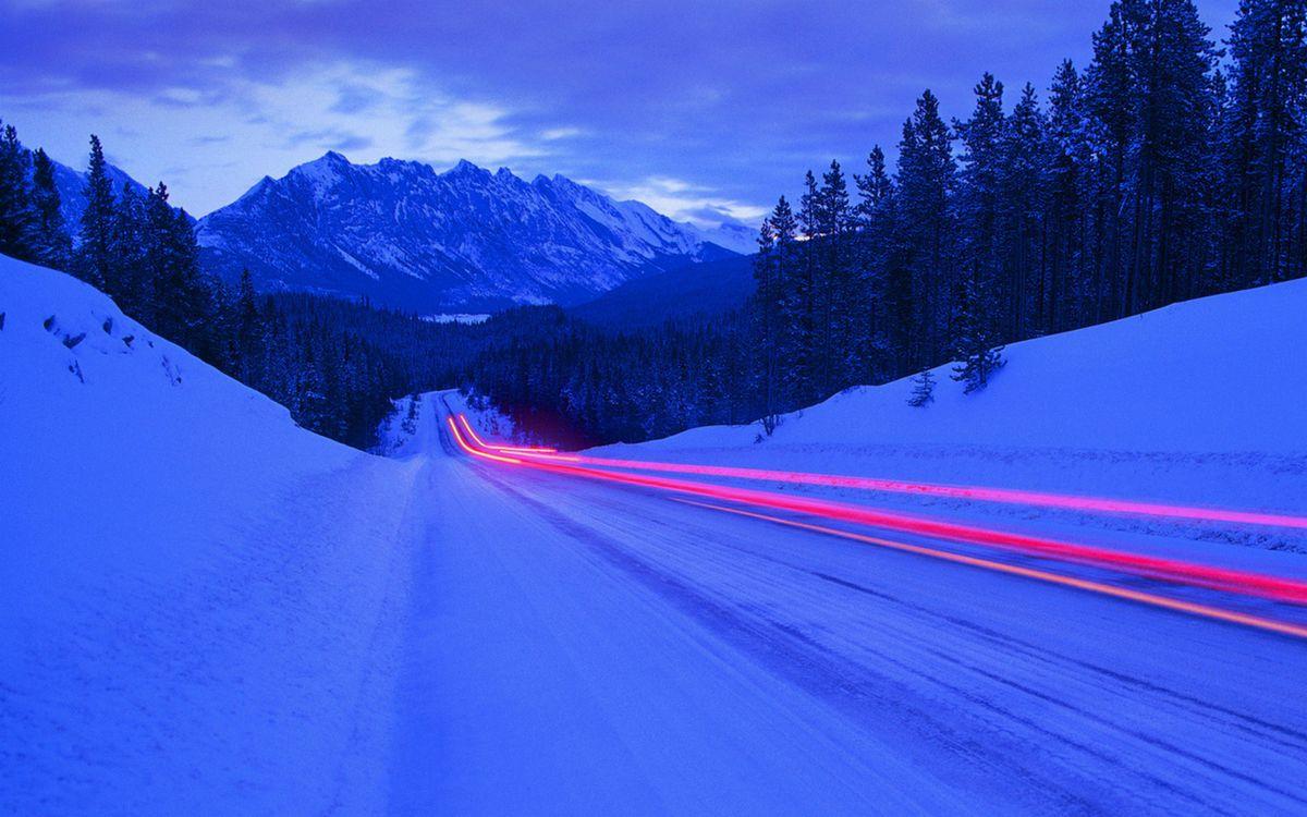 Фото бесплатно автомобиль, горы, сугробы - на рабочий стол