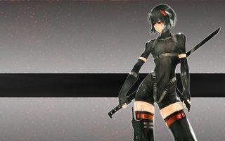 Бесплатные фото девушка, взгляд, костюм, меч, ножки