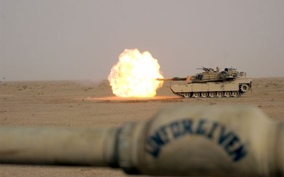 Photo free m1a1, desert, weapons