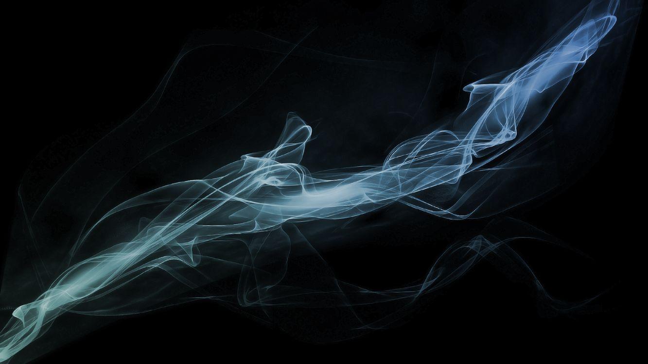 Фото бесплатно дым, черный фон, холод, абстракции, vape, абстракции