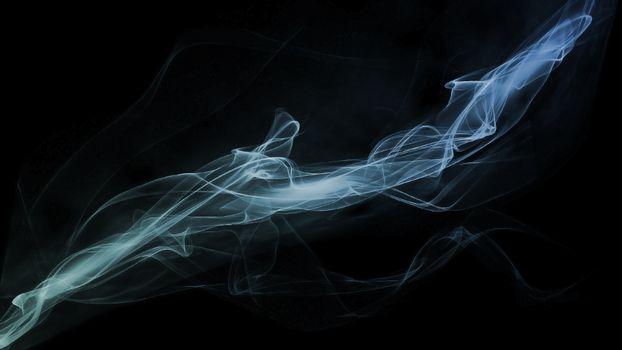 Заставки дым, черный фон, холод
