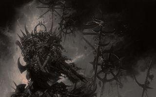 Бесплатные фото доспехи,warhammer,меч,топор,воин
